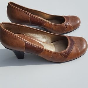 Madden Girl Shoes - Madden Girl | Tan Patchwork Leather Heels size 9